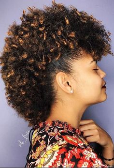 curly mohawk hairstyle for African women