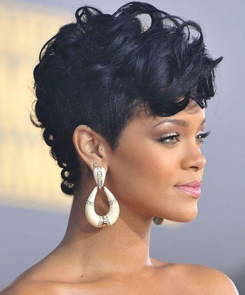 gorgeous Rihanna mohawk hair cut